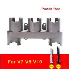 Пылесос часть держатель для хранения Dyson V10, V8, V7 абсолютное кисть стойка для накладных ногтей сопла подставка доки станция аксессуары