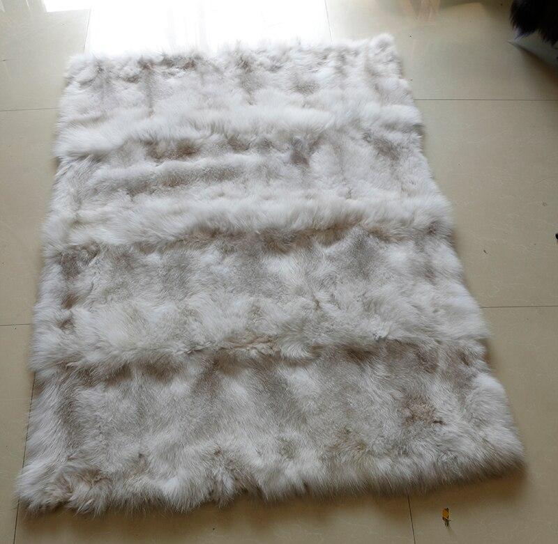 Couverture en fourrure de renard bleu véritable en peluche douce 150X100 cm pour bébés