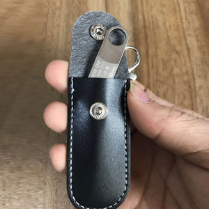 Image 5 - Универсальный USB флэш кожаный защитный чехол для хранения черный портативный защитный чехол с кольцом для ключей родий Омар застежка зажим шкафчик