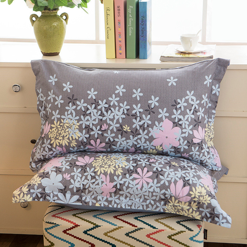 1 Piece 48cm*74cm Beauty Floral Printed Pillowcase 100% Polyester Pillow Case Cover For Bedroom Use XF340-23(China)