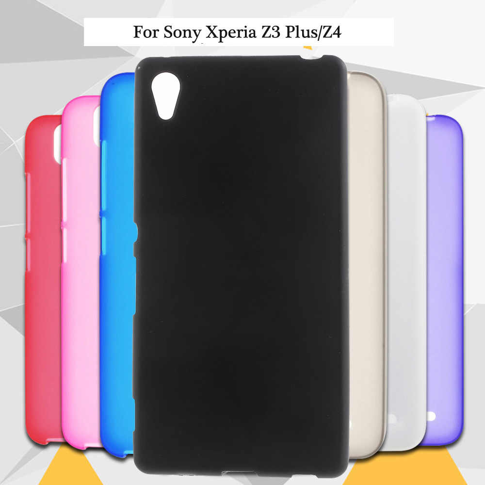 Limelan Nieuwe Voor Sony Xperia Z3 + E6553/Z3 Plus dual E6533 Z4 Pure Black TPU Matte Silicon Soft gel Skin Phone Case Cover