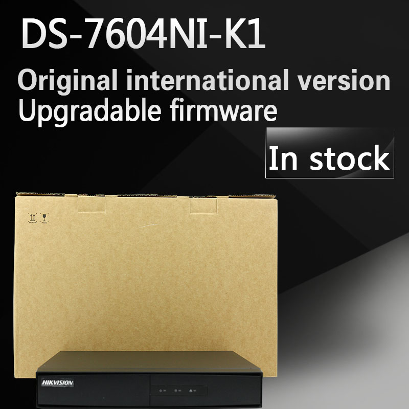 In stock Free shipping English version DS-7604NI-K1 4CH 4K NVR one SATA Embedded Plug & Play 4K NVR without POE