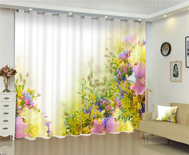 Décoratif moderne 3d fenêtre rideaux rideaux pour salon chambre