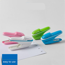Stapleless Stapler Colorful Office Binding Machine Stapler Papel Papelaria Papeterie staple-free stapler 8 sheets y 1 pcs office staple free stapleless stapler home paper binding binder paperclip new drop ship