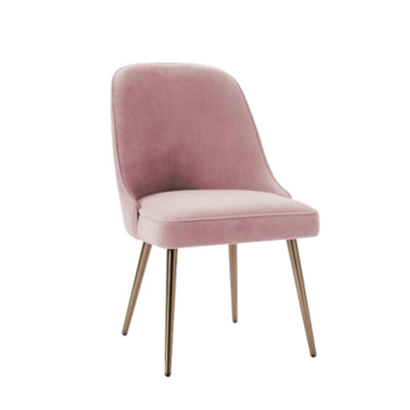 Iron Lounge Chair Cafe Chair Western Chair Pink Princess Chair Metal Back Office(China)