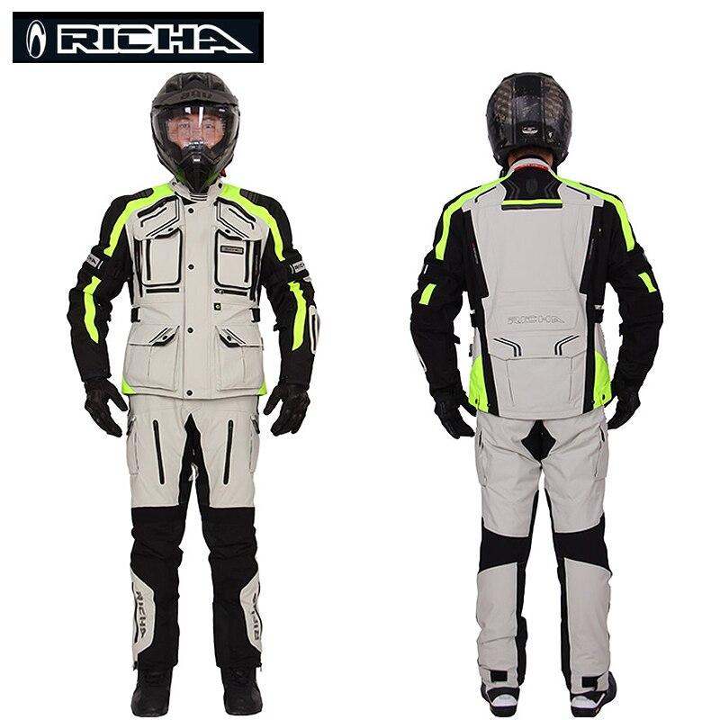 RICHA équitation tribu 2018 nouveau Motocross protection hommes veste moto équitation manteau résistant à l'usure respirant Biker vestes