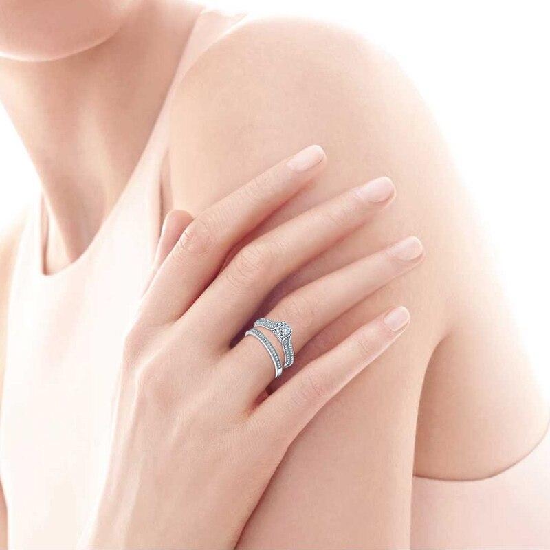 Liela izpārdošana 2016 100% 925 sudraba kāzu gredzeni. Īstas - Skaistas rotaslietas - Foto 6