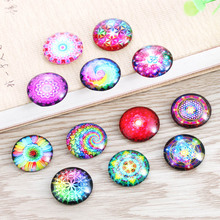 TYLFNL 50pcs mixed charm Color kaleidoscope photo glass cabo