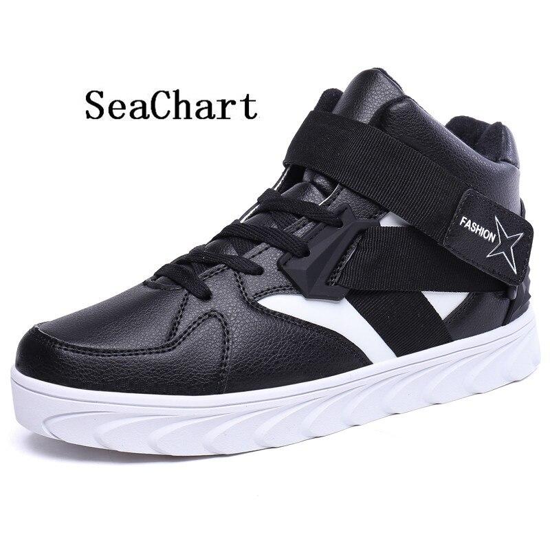Prix pour SeaChart Nouvelle Arrivée 2017 Hommes de Planche À Roulettes Baskets Hommes Chaussures Mâle Vieille École Sports de Plein Air High Top Sneakers Livraison Gratuite