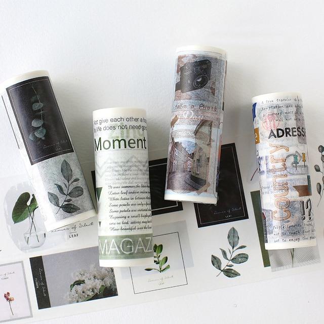 10 cm * 5 m Kawaii viaje planta hoja ancho Washi cinta pegatinas Scrapbooking DIY cinta adhesiva suministros escolares bala diario sl1362