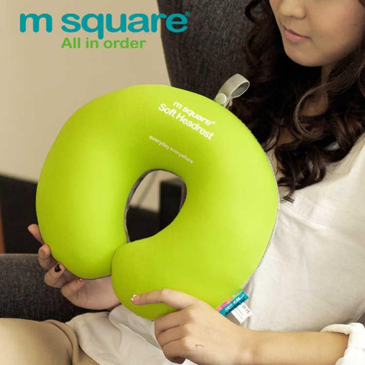 を M 平方トラベルアクセサリーのための U 字状マッサージクッション首枕ヘッドレスト泡かわいい枕