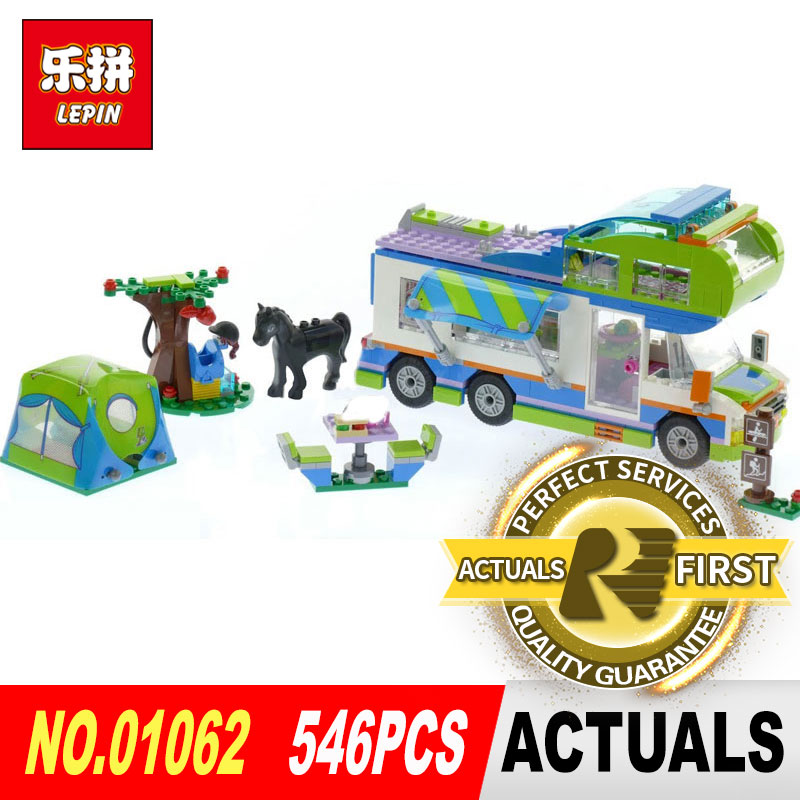 546Pcs Lepin 01062 Girl Series The Motorhome Set 41339 Building Blocks Bricks Funny Toys Model for Children Birthday Gifts the girl with all the gifts