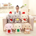 cute rabbit plush toy grey brown bunny stuffed soft doll kids toy christmas gift for girl 32cm 40cm 4 colors