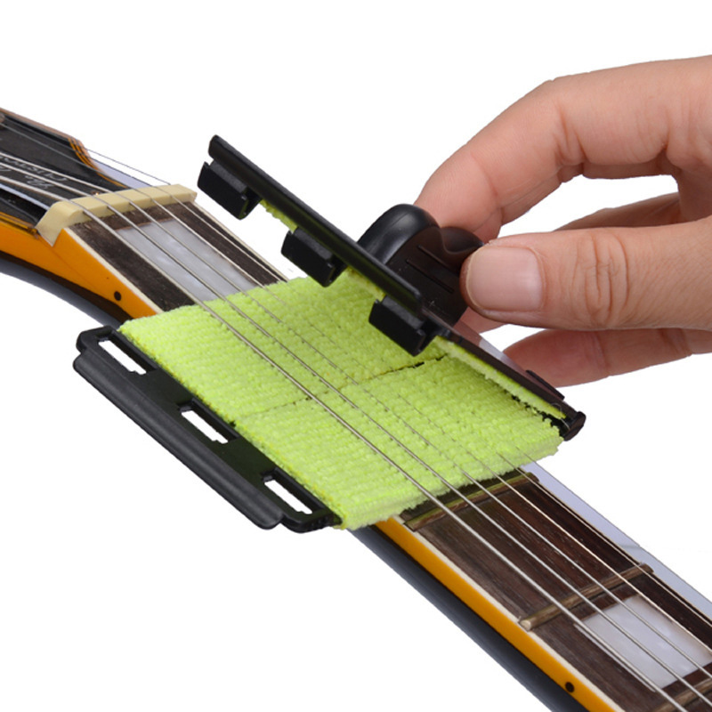 Electric Guitar Bass Strings Scrubber Rub Cleaning Maintenance Care Guitar Strings Cleaner Tools
