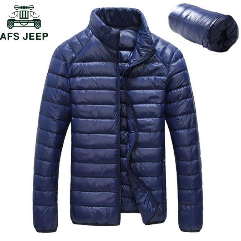 New 2018 Mens Winter Jackets Ultra Light 90% White Duck Down Jacket Chaqueta Hombre Waterproof Casual UltraLight Thin Jacket