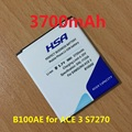 B100AE B100AC 3700mAh Mobile Phone Battery For Samsung Galaxy Ace 3 S7270 S7272 S7898 S7562C S7568i i699i s7262