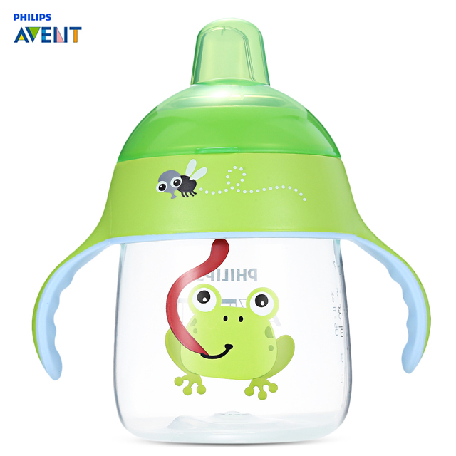 philips avent 260ml/9oz cartoon baby soft spout cup water drinking