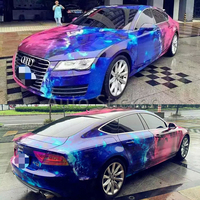 1.52*5/10/15/20/25/30m Space Galaxy Vinyl Car Wrap Film Camo with air release Printed Vinyl Glossy Galaxy stickerbomb Covering