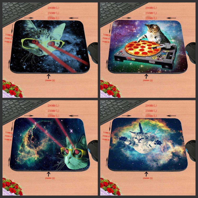 Mairuige Funny Lovely Space Cats MousePads Computer Gaming Mouse Pad Gamer Play Mats Professional Rubber Mouse Mice mat ...