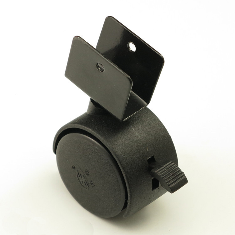 black 40mm replacement swivel casters office chair baby crib sofa brake plastic rolling rollers wheels caster furniture