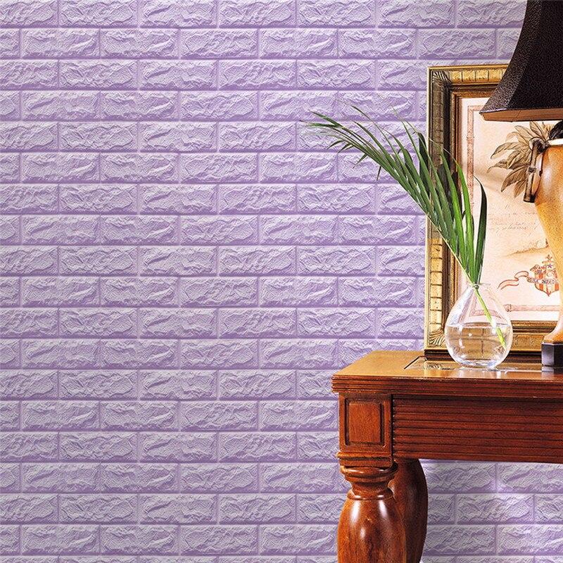 Hot!Wall Stickers PE Foam 3D Wallpaper DIY Safty Home Decor Wall Decor Embossed Brick Stone Decorative Sticker Apr19