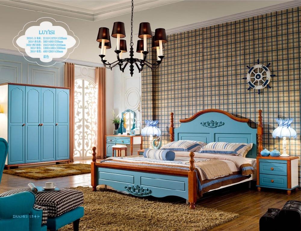 Compra camas de madera real online al por mayor de china - Royal design muebles ...