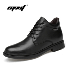Genuine Leather Ankle Men Boots Autumn Winter Fashion S Low-Cut High Quality Plush Fur Snow Shoes Dropshipping