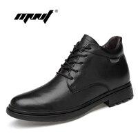 Genuine Leather Ankle Men Boots Autumn Winter Fashion Men S Low Cut High Quality Plush Fur Snow Boots Shoes