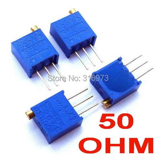 (100 pcslot) 50 ohm 3296 Multiturn Trimming Potentiometer.