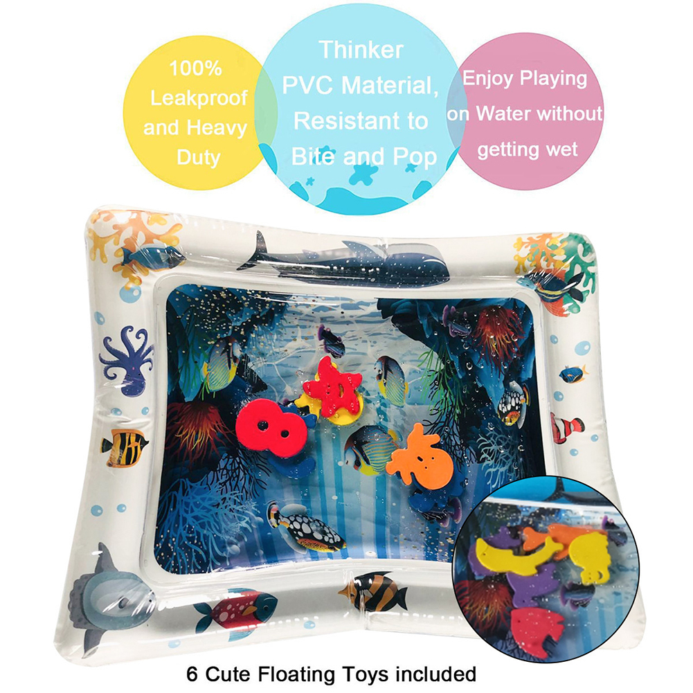 Hot Sales Baby Kids water play mat Inflatable Infant Tummy Time Playmat Toddler for Baby Fun Activity Play Center DropshipTSLM1