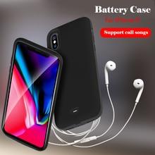 5000 mAh Battery Case For iPhone X Rubber External Battery Case For iPhone X Smart Charger Cover With Bracket Power Bank Cases
