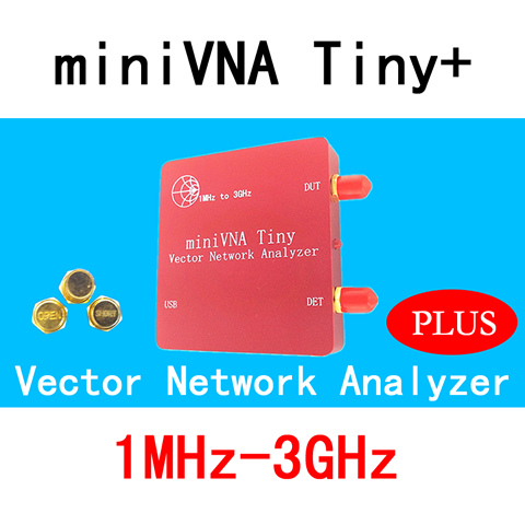 VNA 1M-3GHz Vector Network Analyzer miniVNA Tiny+ VHF/UHF/NFC/RFID RF Antenna Analyzer Signal Generator SWR/S-Parameter/Smith smith s