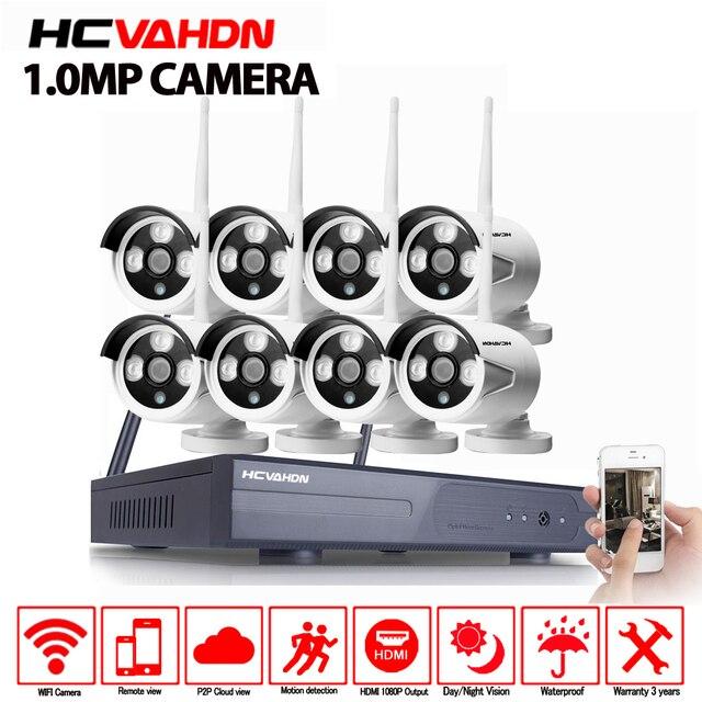 8CH ワイヤレス Nvr キットプラグアンドプレイ 720 1080P HD 屋外 Ir P2P ナイトビジョン IP ビデオセキュリティ CCTV カメラ WIFI 監視システム