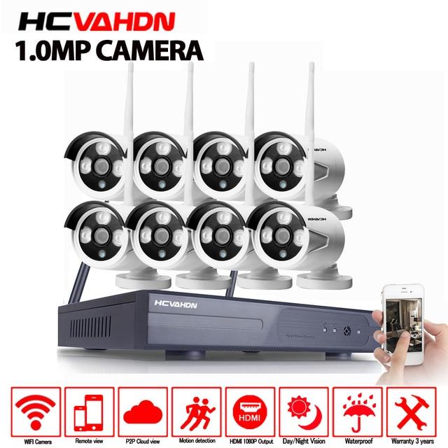 8CH Wireless NVR Kit Stecker und Spielen 720 P HD Outdoor IR P2P Nachtsicht IP Video Security CCTV Kamera WIFI Überwachung System