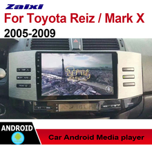 все цены на ZaiXi Android Car Multimedia GPS Audio Radio Stereo For Toyota Reiz Mark x 2005~2009 Original Style Navigation NAVI BT онлайн