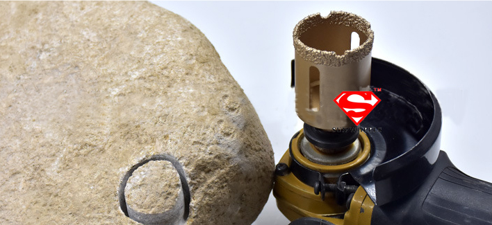 Dry or wet Brazed diamond hole saw granite drill bit M14 diamond hole saw for marble 68mm drilling 1pcs