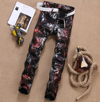 Jean Men Famous Brand Man Jeans Printed Skinny Solid Summer Mens Slim Fit 2017 Stretch Patch