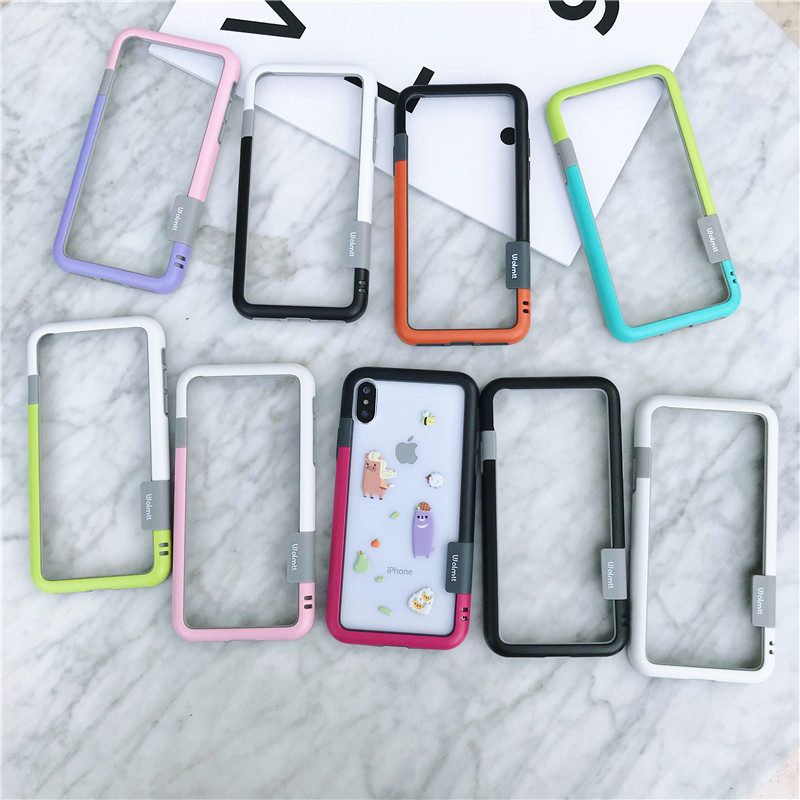 Fashion Soft TPU frame <font><b>Bumper</b></font> For <font><b>iPhone</b></font> X XR XS MAX Phone Buckle Frame For <font><b>iphone</b></font> 6 <font><b>6s</b></font> 7 8 Plus 11 Pro Max Phone <font><b>Case</b></font> Cover image