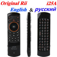 Original Rii i25A Air Mouse Mini 2.4G Wireless Keyboard i25a for Android TV Box Mini PC Laptop Russian keyboard remote control