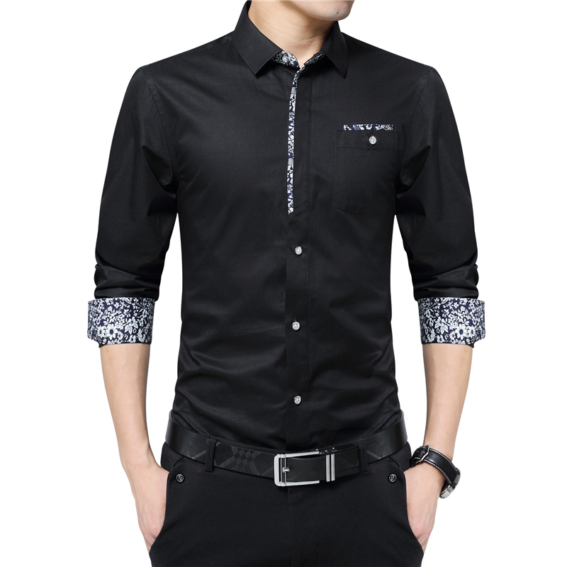 Plus Size 5XL 2020 New Luxury Brand Men Shirts Non-ironing Long Sleeve Shirt Turn Down Collar Slim Shirt Mens Designer Clothes