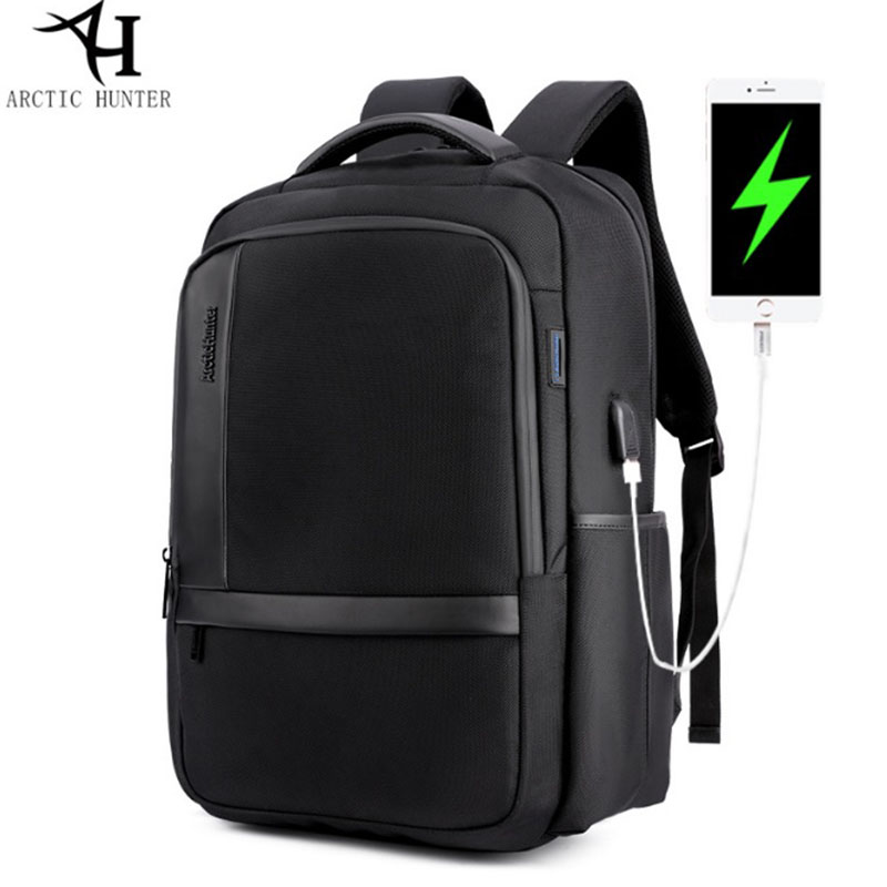 ARCTIC HUNTER New Casual Men's Backpack USB Charge 15.6 Notebook Computer Backpack Nylon Waterproof Anti Theft Men Students Bags ol 6499 xeфигура сова заботливая мама sealmark