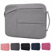 For macbook air Pro 11/13/15 inch sleeve bag carring cases Dual Pocket Neoprene Zipper computer Pouch capa para notebook