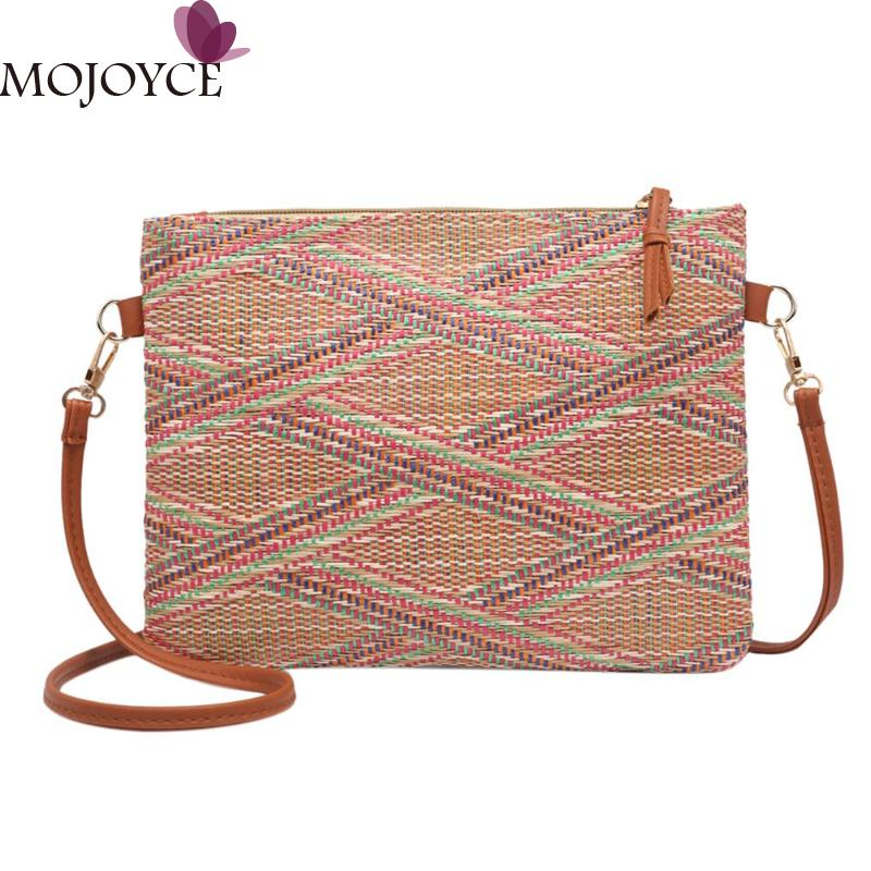 Women Exclusive Design Vintage Weave Messenger Shoulder Bags Casual Purse Crossbody Handbags Girls Travel Shopping Messenger Bag