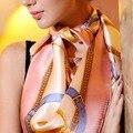 [Lesida] 2016 Nova Moda Barata Imitar Lenço De Seda Das Mulheres Projeto de Paisley Impressão Bandana 90 CM Praça Cachecóis E Xales de Pashmina