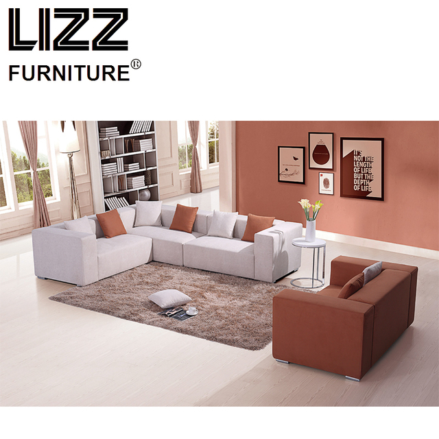 US $1680.0 |Corner Sofas Loveseat Chair High Quality Fabric Living Room  Furniture Modern Design Scandinavian Corner Fabrics Sofa Couch-in Living  Room ...