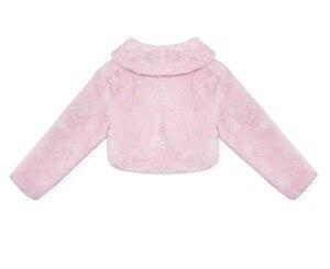 Image 3 - ดอกไม้ใหม่หญิงเสื้อแจ็คเก็ตเด็ก Warm Faux Fur Party งานแต่งงานเจ้าสาวเสื้อชุดราตรี Bolero เด็กฤดูใบไม้ร่วงที่อบอุ่นฤดูหนาว Shrug Drop การจัดส่ง