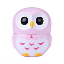 LIGHT pink Amazing 1PC Cute Lovely Owl Timer Kitchen 60 Minute Cooking Mechanical Home Decoration New