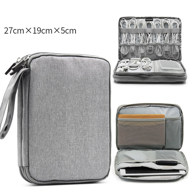 Data Charger Wire Bag Mp3 Earphones Usb Flash Drive Bag double structure Travel Accessories Bags Date Cable Digital Finishing