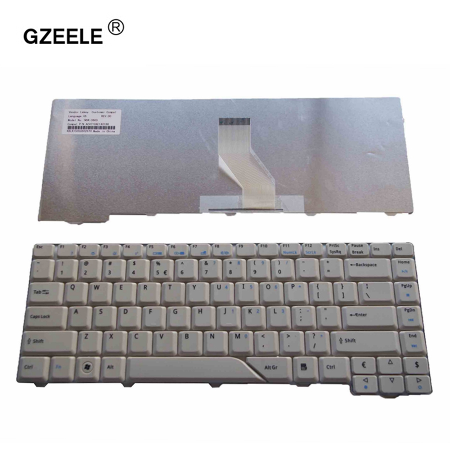 GZEELE Keyboard for <font><b>Acer</b></font> <font><b>Aspire</b></font> 4210 4220 4520 <font><b>4920</b></font> 5220 5310 5520 5710 5720 5910 5920 5930 6920 6935 6935G US English keyboard image