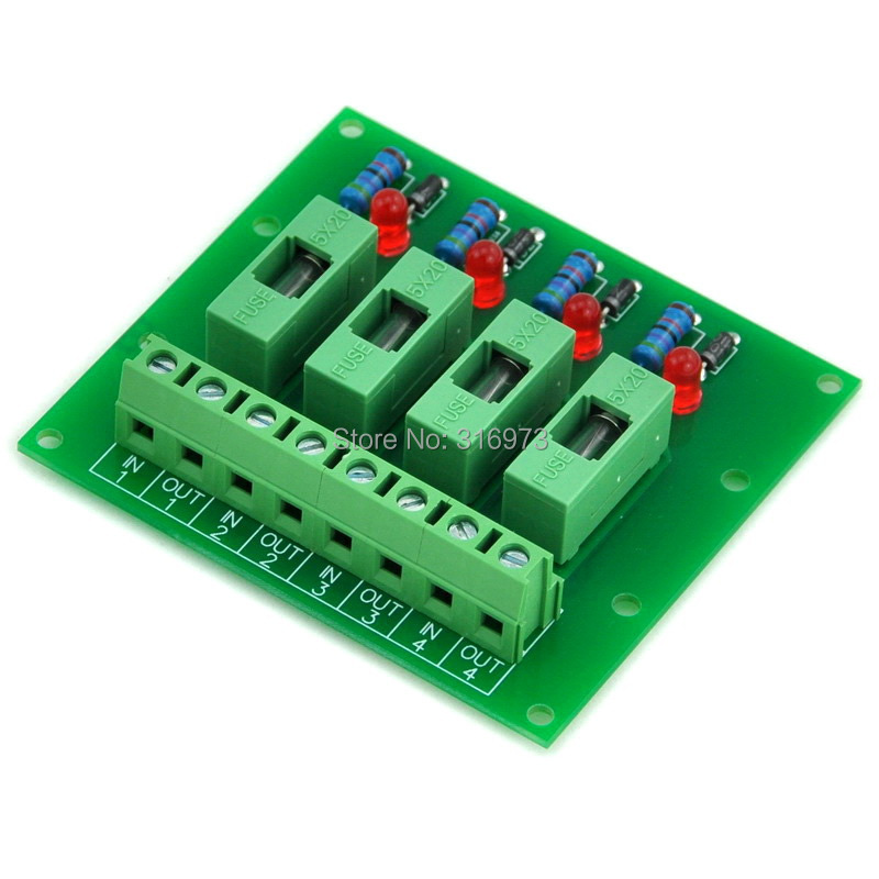 4 Channel Fuse Board, With Fuse Fail Indication, For 100~250VAC.